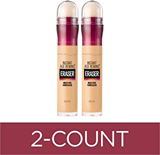 Maybelline New York Instant Age Rewind Eraser Dark Circles Treatment Concealer, Sand, 2 COUNT