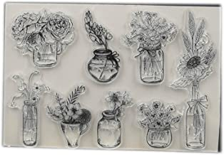 Flower Vase Transparent Clear Silicone Stamp/Seal for DIY Scrapbooking/Photo Album Decorative Card