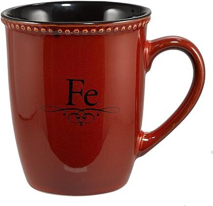 Amazon.com | Taza roja «Fe»: Coffee Cups & Mugs