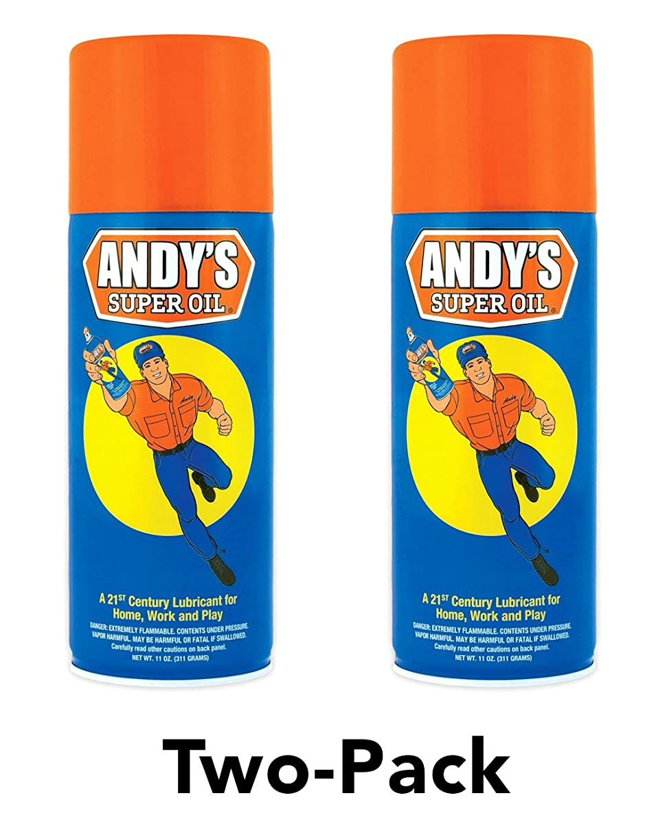 Andy's Super Oil - The World's Best Spray Lubricant (Two-Pack)