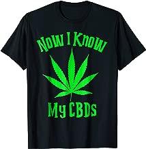 CBD Funny Shirt Now I Know My CBDs Hemp Leaf Green Marijuana