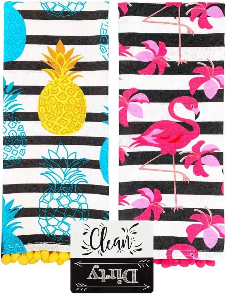 Cute Kitchen Towels Set Themed Summer Spring Trop Overseas parallel import trend rank regular item