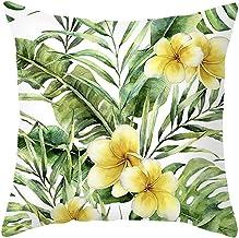 Agoble Soffa örngott 40 x 40, örngott lantlig stil polyester 1 styck 40 x 40 cm örngott grön gul bladblomma
