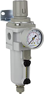 PneumaticPlus SAW4000M-N04BG-MEP Compressed Air Filter Regulator Combo Piggyback Style 1/2
