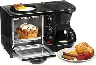 Elite Cuisine EBK-200B Maxi-Matic 3-in-1 Multifunction Breakfast Center, Black