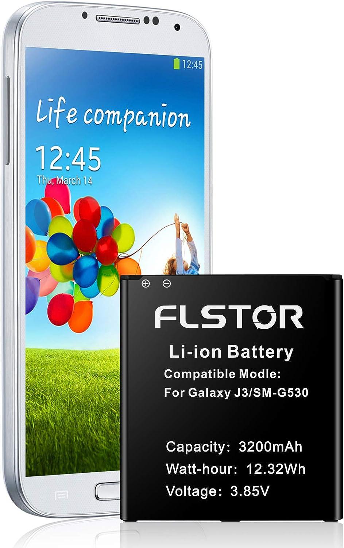 Battery for Galaxy J3, 3200mAh Li-ion Replacement Battery for Samsung Galaxy J3 J320V J320A J320F J320P J327A J327P EB-BG530BBC EB-BG530BBE SM-G530 Spare Battery【Upgraded】