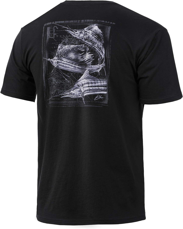 Performance Fishing Shirt HUK Mens Sailfish Tourney Short Sleeve Tee