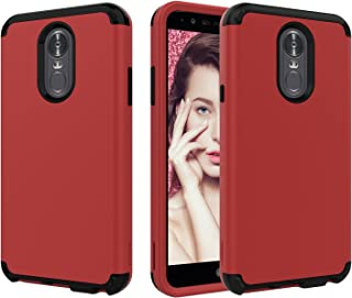 LG Stylo 4 Case,LG Q Stylus/LG Q Stylus Plus/LG Stylus 4/LG Stylus 4 Plus Smartphone Case,AXBSR Dual Layer Hybrid Shock Proof Protective Rugged Phone Cover Compatible with LG Stylo 4 2018 (Red)
