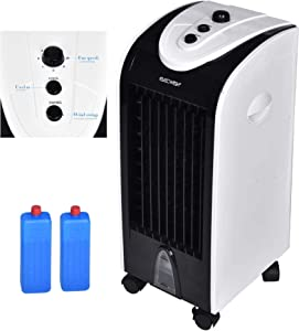 Fullwatt Air Cooler Portable Evaporative Air Conditioner Fan Humidifier Bladeless Quiet Electric Fan with Ice Crystal Box for Home Office Dormitory