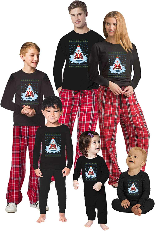 Awkward Styles Christmas Pajamas for Family Xmas Santa in Shark Matching Christmas Sleepwear Men PJ Set Style 1 M