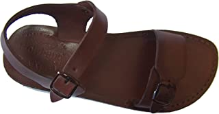 Unisex Leather Biblical Sandals (Jesus - Yashua) Jerusalem Style II