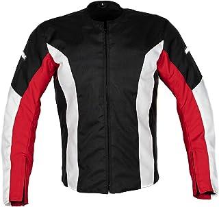 MotoArt UltimateRider Textile Motorcycle Jacket Cordura 1000D (L, Red,Black,White)