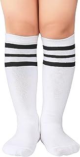 Kids Child Cotton Three Stripes Sport Soccer Team Socks...