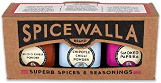 Spicewalla Chili Powder Collection 3 Pack | Ancho, Chipotle, Smoked Paprika | Non-GMO, No MSG, Gluten Free