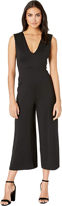 Deep V Bow Back Jumpsuit