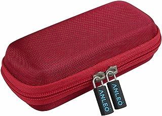 Anleo 硬质旅行箱适用于 Anker Astro E1 5200mAh 糖果条形尺寸超紧凑便携式充电器 红色