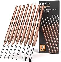 Nicpro 8 PCS Fine Detail Paint Brush Set,Professional Artist Miniature Brushes Liner Paintbrush for Watercolor Oil Acrylic...