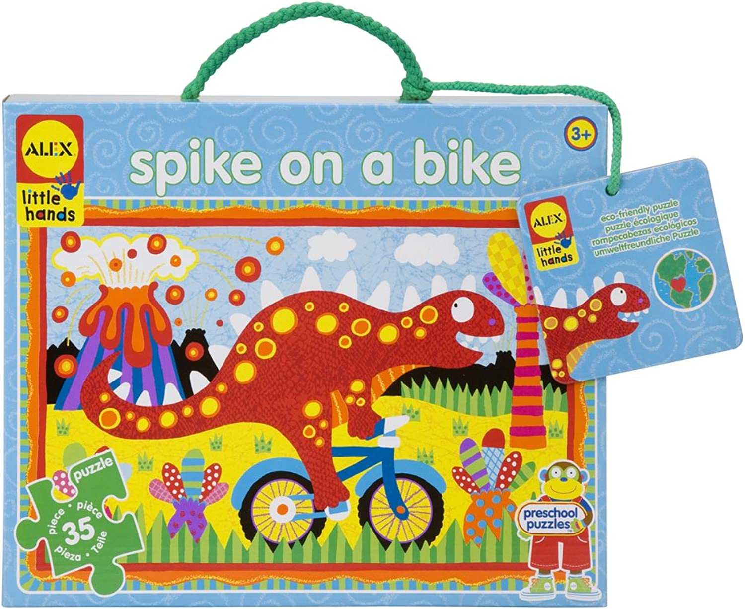ALEX Toys - Early Learning Giant Puzzle - Spike On A Bike - Little Hands 1458B