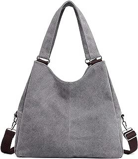 SGJFZD Women's Handbag Large-Capacity Waist Bag Messenger Bag Shoulder Bag Messenger Bag Tote Bag Fashionable Canvas Shopping Travel Laptop Bag for Ladies Wallet Storage Bag (Color : Gray)