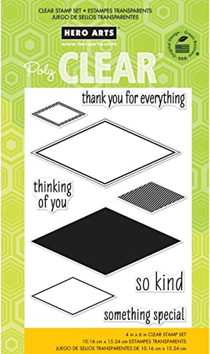 Brand nouveau Hero Arts Clear Stamps 4 X6  Sheet-So Kind