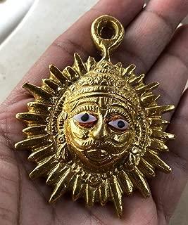 lord surya gold pendant