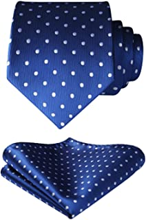 Polka Dots Tie Woven Classic Men's Necktie & Pocket Square Set