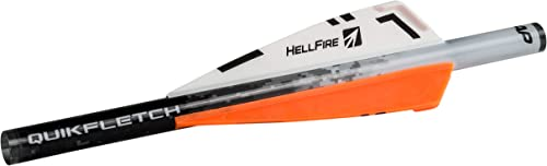 "New Archery Products NAP Quikfletch 3"" Hellfire Fletching (6 Pack), Orange"