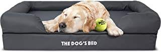 The Dog's Bed Orthopedic Dog Bed, Waterproof, Premium Memory Foam S-XXL, Dog Pain Relief for Arthritis, Hip & Elbow Dysplasia, Post Surgery, Lameness, Senior Supportive, Calming Bed, Washable Cover