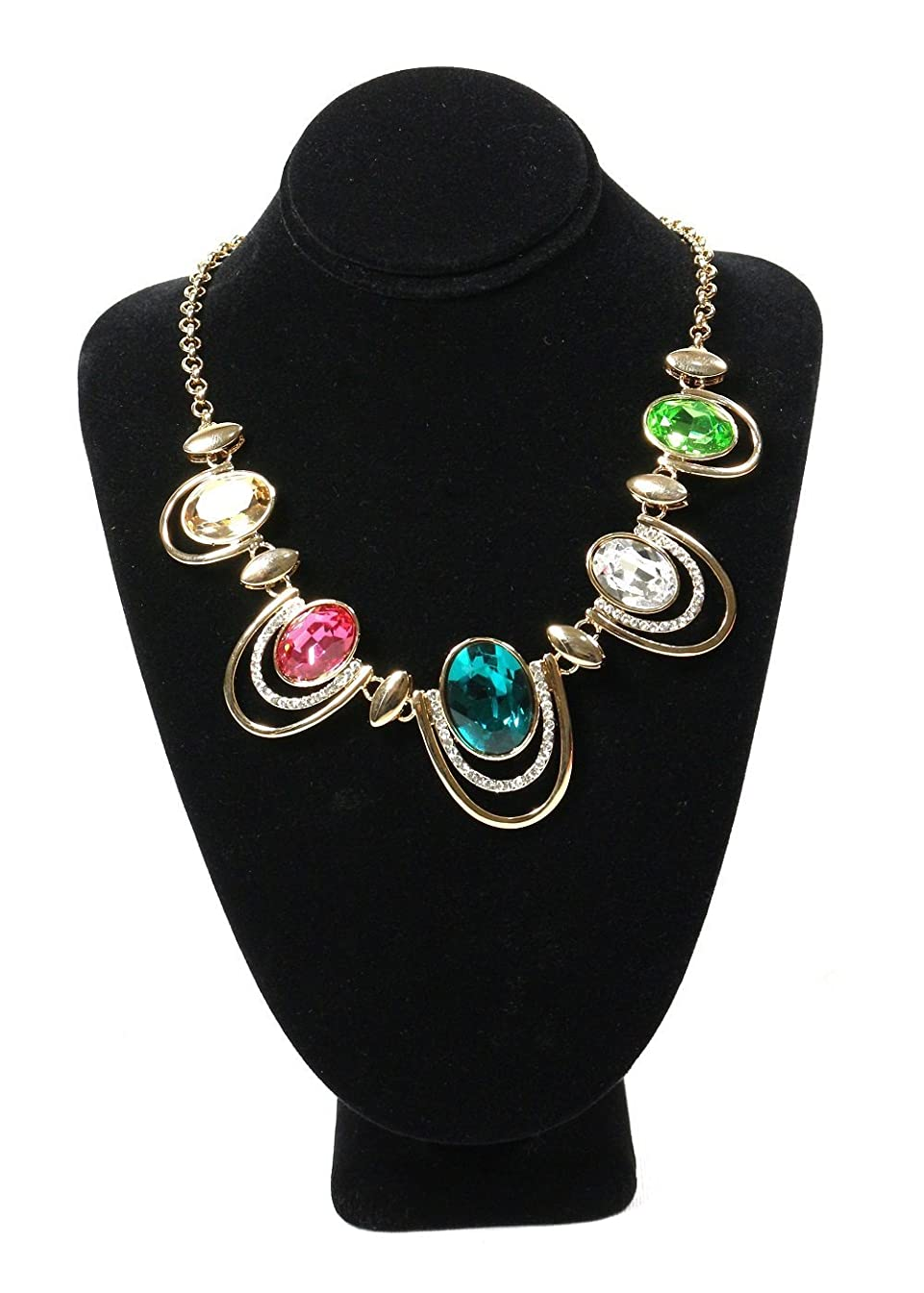 Bejeweled Display Premium Quality Black Velvet Graceful Necklace Bust Jewelry Display 11