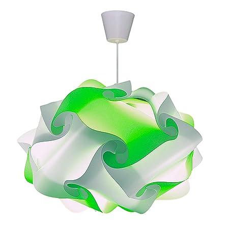 CREATIV LAMP - Suspension Luminaire | Abat-Jour à Suspendre au Plafond | Pour Décoration Salon, Chambre Enfant, Ado, Adulte | Ø40 cm - Mix Vert Anis
