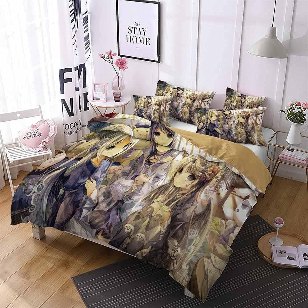 Max 61% OFF Lovely Anime Year-end gift Girl Duvet Cover Sets Dorm 3pcs Comfor Bedding Room
