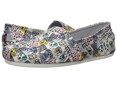 BOBS from SKECHERS Bobs Plush Pastel Pups (Gray Multi) Women