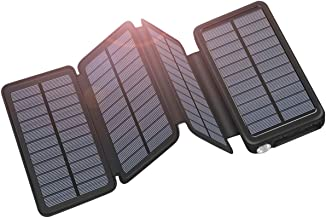 Solar Charger 25000mAh ADDTOP Portable Solar Power Bank with Type-C Input for Smart Phones, Ipad, Laptop and Outdoor Waterproof