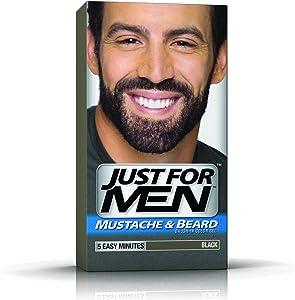Just for Men Mustache & Beard Brush-In Color Gel - Black