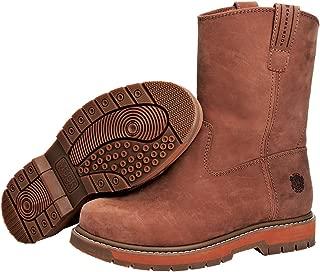 s Wellie Classic Soft Toe Men's Leather Work Boot, Medium Width