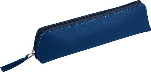 genuina alta calidad Lucrin - Astuccio per per per matite - Vacchetta liscia - azul Azzurro  colores increíbles
