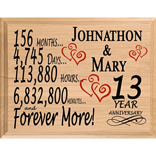 13th Wedding Anniversary Gifts Amazon Com