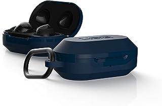 Urban Armor Gear Hardcase für Samsung Galaxy Buds (2019) & Buds+ Plus (2020) Hülle (Wireless Charging kompatibel, Sturzfest nach Militärstandard MIL STD 8105G, Karabinerhaken) blau (Mallard)