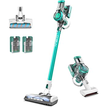 Tineco A11 Master+ Cordless Lightweight Stick & Hand Vacuum Cleaner, Ultra Powerful Suction for Pets, 2 LED Power Brush Heads and 2 Li-ion Detachable Batteries