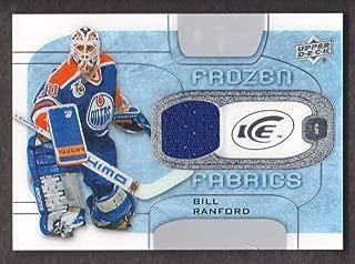 2015-16 Upper Deck Ice Frozen Fabrics #FF-BR Bill Ranford Jersey Edmonton Oilers