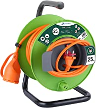 Elektronische kabelhaspel voor tuin, groen 25 M groen
