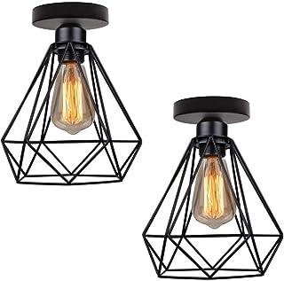 TOPDÉCORÉ 2Pièces*Plafonnier Industrielle Retro en Métal design rétro Suspensions luminaires E27 max 40W,Suspension Indust...