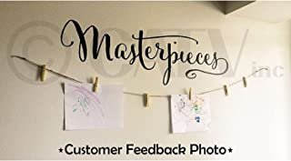 Masterpieces Vinyl Lettering Wall Decal Sticker (Black, 12.5