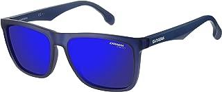 Carrera Men's Ca5041s Rectangular Sunglasses, Matte Blue Sky Mirror, 56 mm