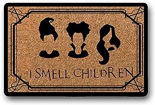 BXBCASEHOMEMAT Hocus Pocus Welcome Mat- Sanderson Sisters- I Smell Children- Welcome Mat- Rug-Cute Welcome Mat- Halloween 23.6