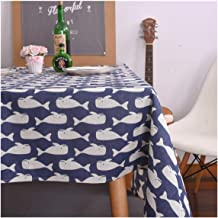 SunnyWarm Pastoral Arrow Pattern Decorative Table Cloth Cotton Linen Tablecloth Dining Table Cover for Home Decor,Party Table Cloth,9090Cm