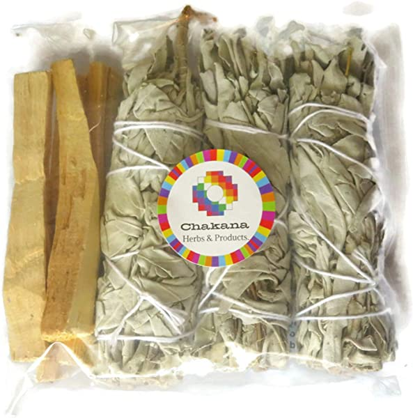 Chakana California White Sage And Palo Santo Bundle Include 3 Sage And 4 Palo Santo Removes Negative Energy 100 Natural Used For Relaxing The Mind And Body