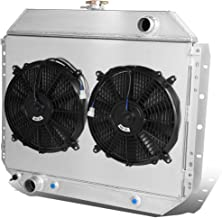 For Ford F-Series Pickup/Bronco Dual Core 2-Row Bolt-on Cooling Radiator W/Fan Shroud - 5th 6th gen