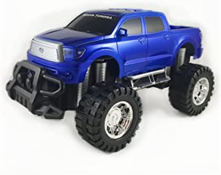 Off Road Friction Powered Toyota Tundra Toy Truck - Toy car with big wheels (Blue)