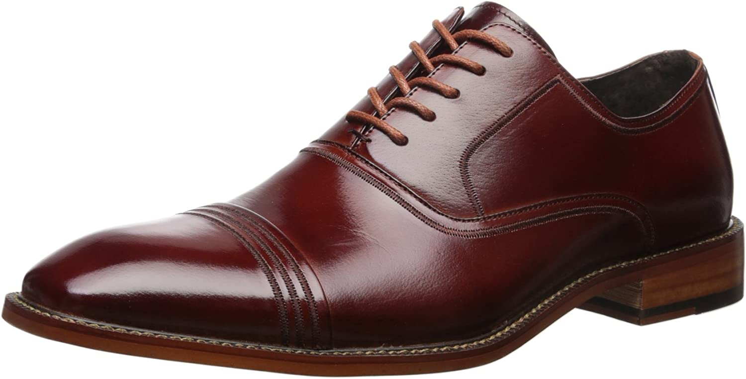 Stacy Adams Men's Bingham Oxford, Cognac, Cognac, 11.5 M US  billig